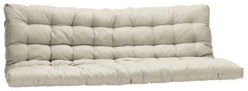 Matelas futon 135 x 190 cm ecru dos enveloppant matelas - Matelas pour banquette jardin ...