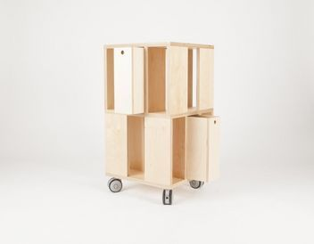 building 2m rangement mobile malherbe edition decofinder. Black Bedroom Furniture Sets. Home Design Ideas