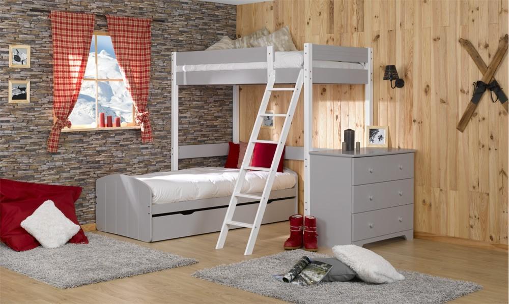 lits adultes mezzanines lit mezzanine enfant bois largeur x. Black Bedroom Furniture Sets. Home Design Ideas