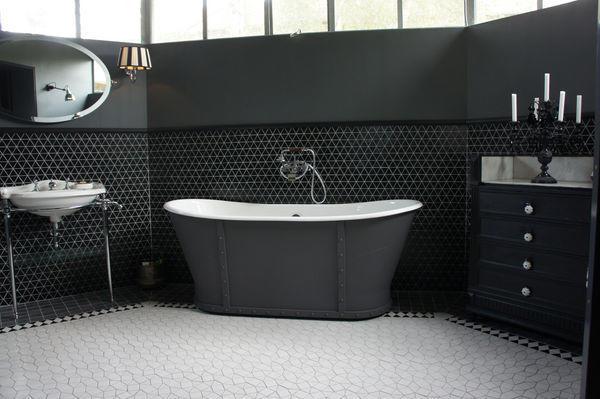 GAUDI - Carrelage salle de bains - Noir - Emaux de Briare