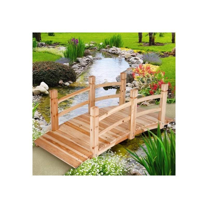 pont de jardin bois passerelle 140 cm pont de jardin white. Black Bedroom Furniture Sets. Home Design Ideas