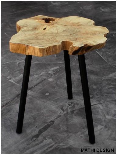 table basse d 39 appoint scandinave bout de canap mathi. Black Bedroom Furniture Sets. Home Design Ideas