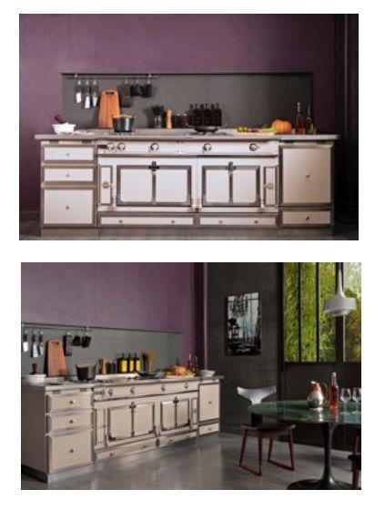 ch teau 165 cuisini re ecru la cornue decofinder. Black Bedroom Furniture Sets. Home Design Ideas