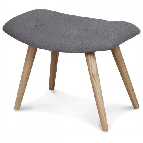 tabouret scandinave repose pieds tissu taupe tabouret demeure. Black Bedroom Furniture Sets. Home Design Ideas