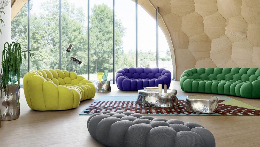 bubble canap 3 places multicolore roche bobois. Black Bedroom Furniture Sets. Home Design Ideas