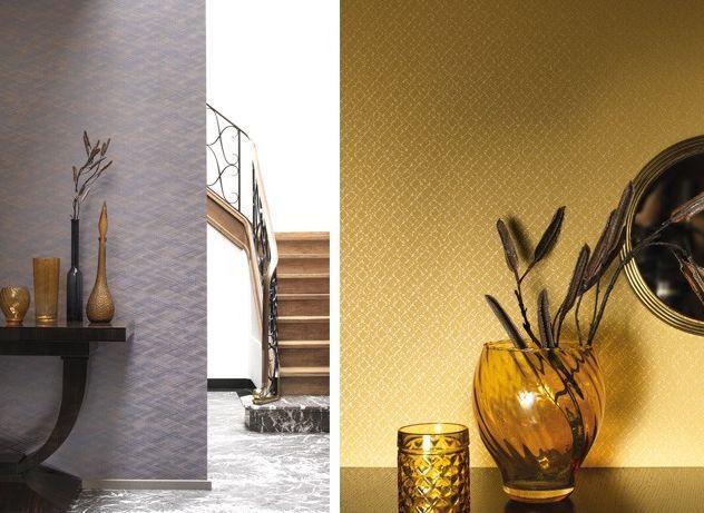 edison papier peint jaune casadeco decofinder. Black Bedroom Furniture Sets. Home Design Ideas