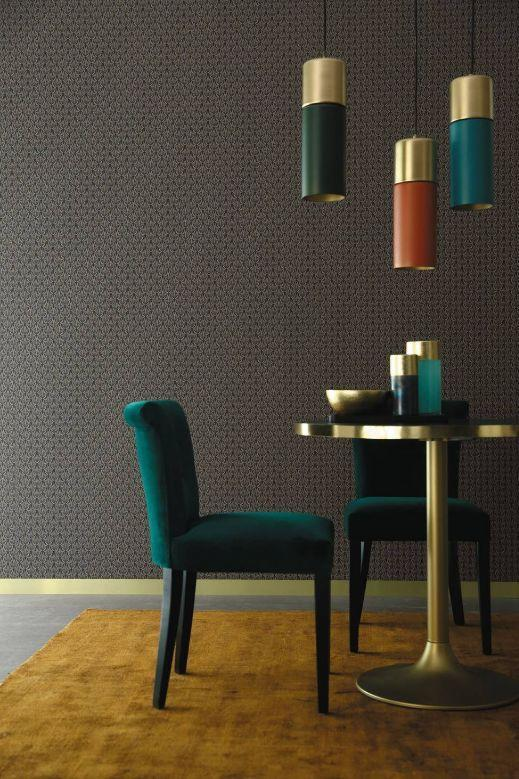 ELLINGTON - Papier peint - Brun - Casamance | Decofinder