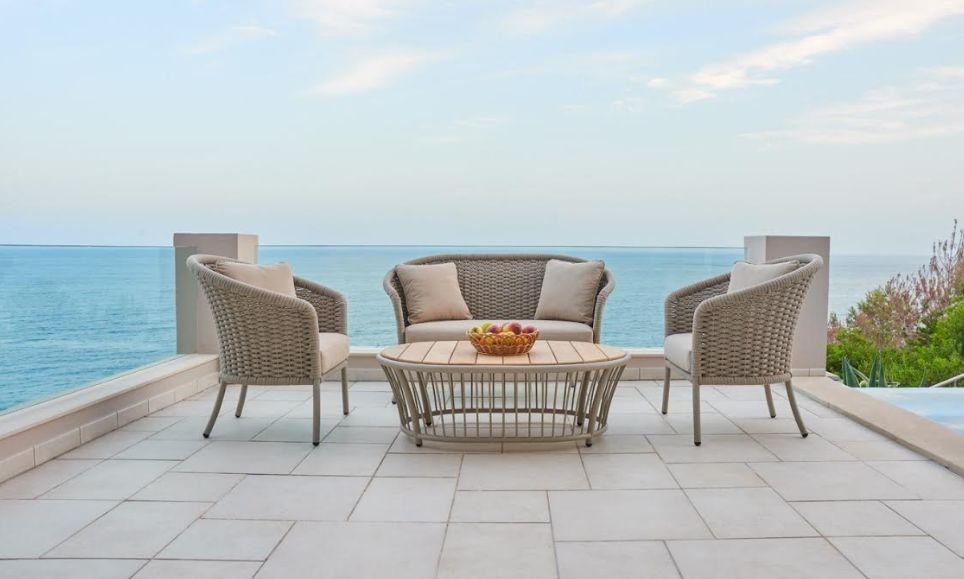 cordial lounge canap de jardin beige aluminium. Black Bedroom Furniture Sets. Home Design Ideas
