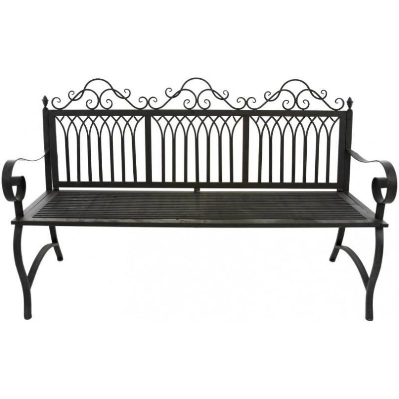 grand banc fauteuil 3 places de jardin en fer 154 banc de jardin fer chemin de campagne. Black Bedroom Furniture Sets. Home Design Ideas