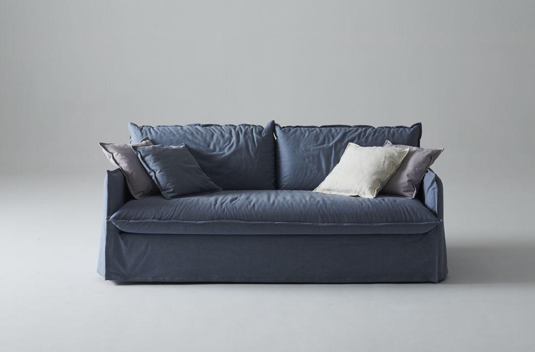 clarke xl canap lit bleu tissu milano bedding decofinder. Black Bedroom Furniture Sets. Home Design Ideas