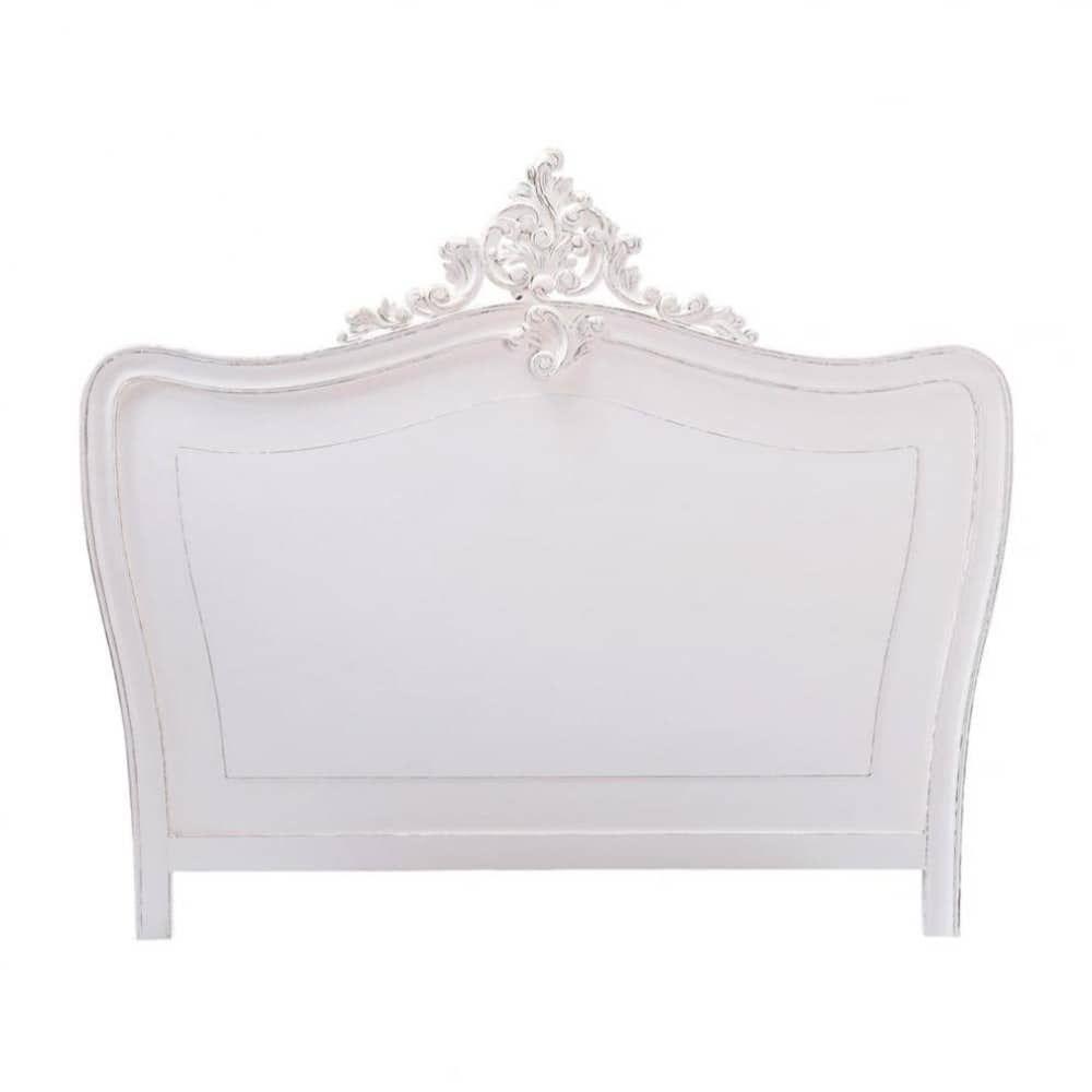 t te de lit blanche l140 comtesset te de lit blanc. Black Bedroom Furniture Sets. Home Design Ideas