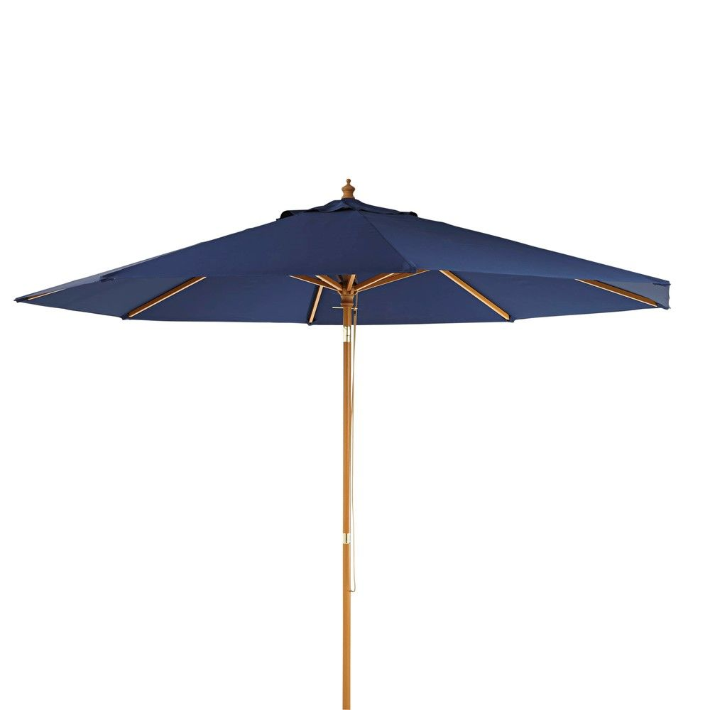 parasol bleu indigo palmaparasol bleu 300x240x300cm maisons du monde
