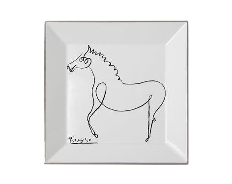 MARC DE LADOUCETTE PARIS - Vide-poche-MARC DE LADOUCETTE PARIS-Picasso le Cheval 1920  27x27cm