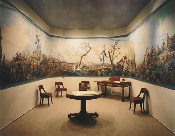 Carolle Thibaut-Pomerantz - Papier peint panoramique-Carolle Thibaut-Pomerantz-La bataille d'Austerlitz