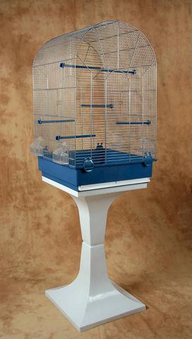 ZOLUX - Cage à oiseaux-ZOLUX-Cage emilie argent avec pied 43x43x139cm