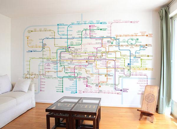 Ohmywall - Papier peint-Ohmywall-Papier peint Plan de Métro de Paris