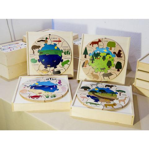 ANIM'EN BOIS - Jouet en bois-ANIM'EN BOIS-Puzzle milieu naturel mare (2-5 ans)