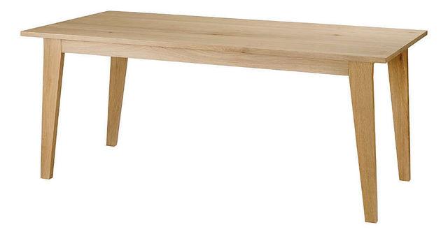 ZAGO - Table de repas rectangulaire-ZAGO-Table upper en chêne massif avec allonges 180-260x