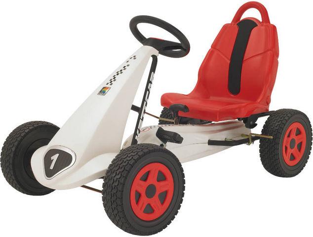 Kettler - Voiture à pédales-Kettler-Kart blanc à pédales daytona 103x61x60cm