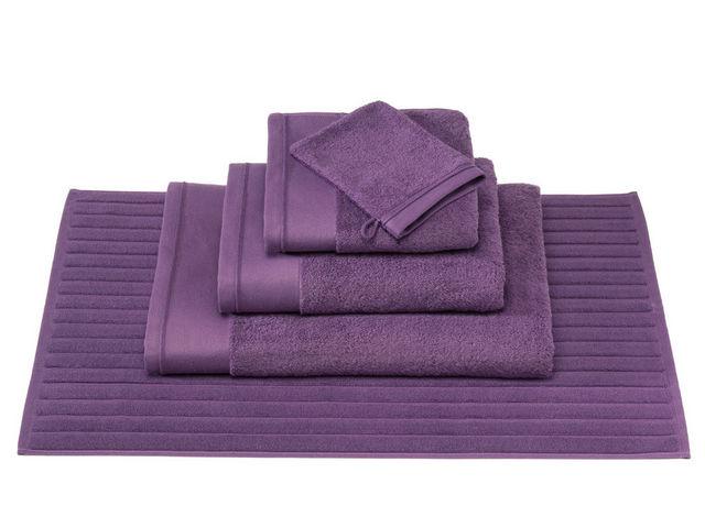 BLANC CERISE - Tapis de bain-BLANC CERISE-Serviette de toilette - coton peigné 600 g/m² - un