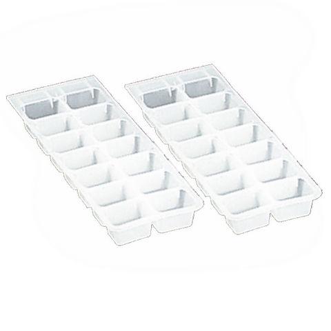 WHITE LABEL - Bac à glaçons-WHITE LABEL-Lot de 2 bacs de 14 glaçons en plastique souple