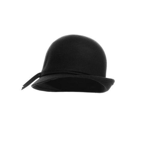WHITE LABEL - Chapeau-WHITE LABEL-Chapeau cloche stylé en feutre de laine avec bord