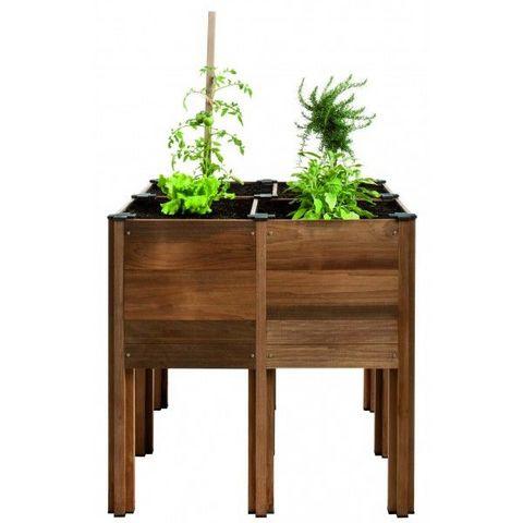 JARDIPOLYS - Bac à fleurs-JARDIPOLYS-Bac à planter en bois 62 litres BYO