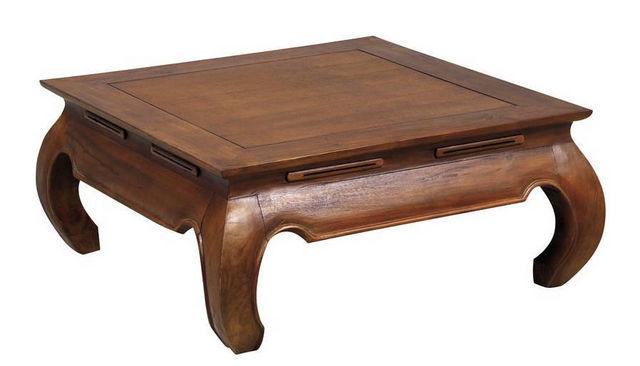 Aubry-Gaspard - Table basse carrée-Aubry-Gaspard-Table basse Opium 80x80x35cm