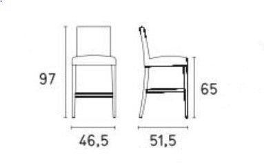 Calligaris - Chaise haute de bar-Calligaris-Chaise de bar LATINA de CALLIGARIS gris foncé et n