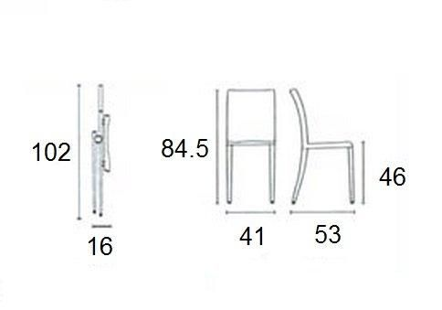 Calligaris - Chaise pliante-Calligaris-Chaise pliante design AIR FOLDING noire et acier c