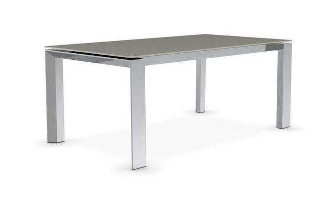 Calligaris - Table de repas rectangulaire-Calligaris-Table repas extensible ROYAL 180x100 en verre dépo