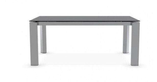 Calligaris - Table de repas rectangulaire-Calligaris-Table repas extensible ROYAL 180x100 en verre séri