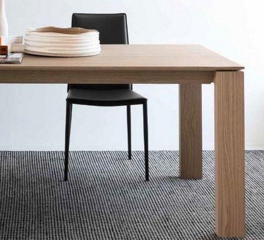 Calligaris - Table de repas rectangulaire-Calligaris-Table repas extensible SIGMA XL 180x100 en bois na
