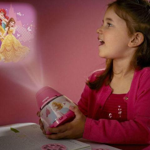 Philips - Veilleuse Enfant-Philips-DISNEY - Veilleuse à pile Projecteur LED Rose Prin