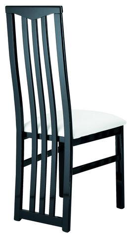 COMFORIUM - Chaise-COMFORIUM-Lot de 2 chaises noires et blanches ultra design