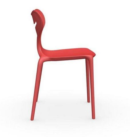 Calligaris - Chaise-Calligaris-Chaise empilable AREA 51 de CALLIGARIS rouge