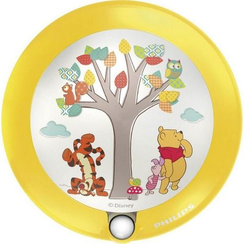 Philips - Applique Enfant-Philips-Veilleuse Winnie The Pooh détecteur LED D9,5 cm