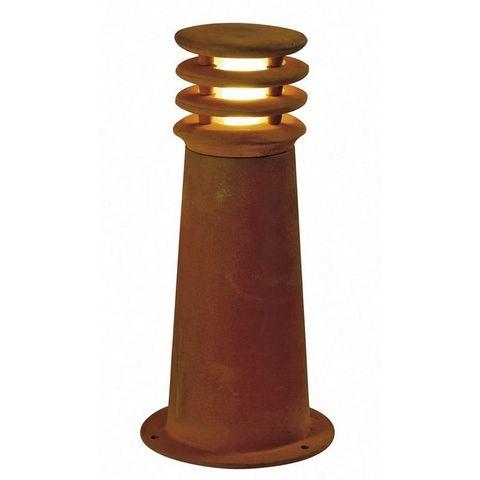 SLV - Borne d'extérieur-SLV-Borne extérieure rouille Rusty Round IP55 H40 cm