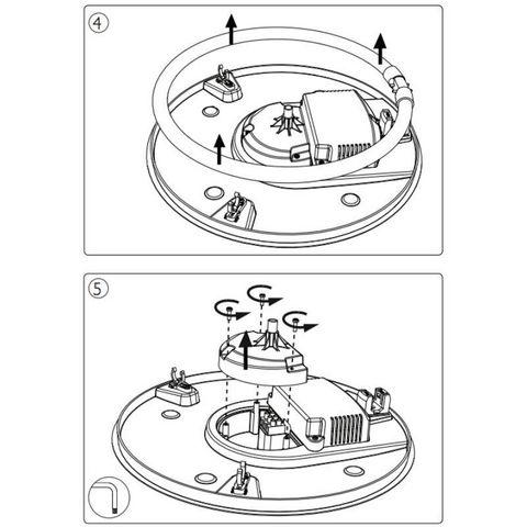 Philips - Plafonnier-Philips-Plafonnier rond salle de bain Vanna D47 cm IP44