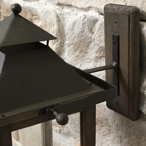 CHEMIN DE CAMPAGNE - Lanterne d'intérieur-CHEMIN DE CAMPAGNE-Style Ancienne Lanterne à Bougie Murale sur Crédan
