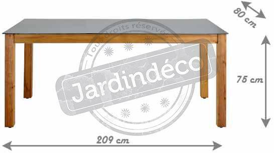 JARDIPOLYS - Table de jardin-JARDIPOLYS-Table salon de jardin en bois Neliö 8 places