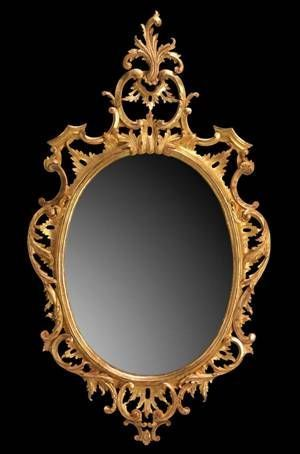 The English House - Miroir-The English House-Chippendale Oval Mirror