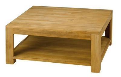 MEUBLES ZAGO - Table basse carrée-MEUBLES ZAGO-Table basse carrée teck Absolue