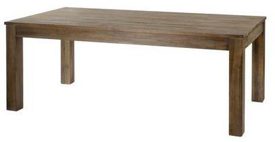 MEUBLES ZAGO - Table de repas rectangulaire-MEUBLES ZAGO-Table teck grisé cosmos 160 cm avec allonge