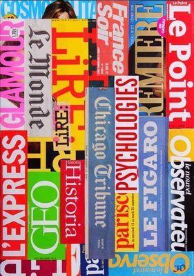 JOHANNA L COLLAGES - Tableau contemporain-JOHANNA L COLLAGES-Melting press