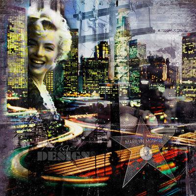 Magel'design - Portrait-Magel'design-Mytic Marilyn 80x80 cm , 3D effet relief