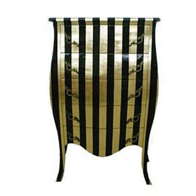 DECO PRIVE - Chiffonnier-DECO PRIVE-Chiffonnier baroque bois dore et noir Deco Prive