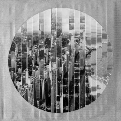 JOHANNA L COLLAGES - Tableau contemporain-JOHANNA L COLLAGES-Windy City : la plage