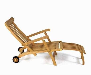 COMPTOIR D'OUTREMER - Chaise longue de jardin-COMPTOIR D'OUTREMER-Steamer a roulettes