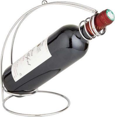 BARCLER - Panier verseur-BARCLER-Porte-bouteille de table en métal chromé 18x15x24c